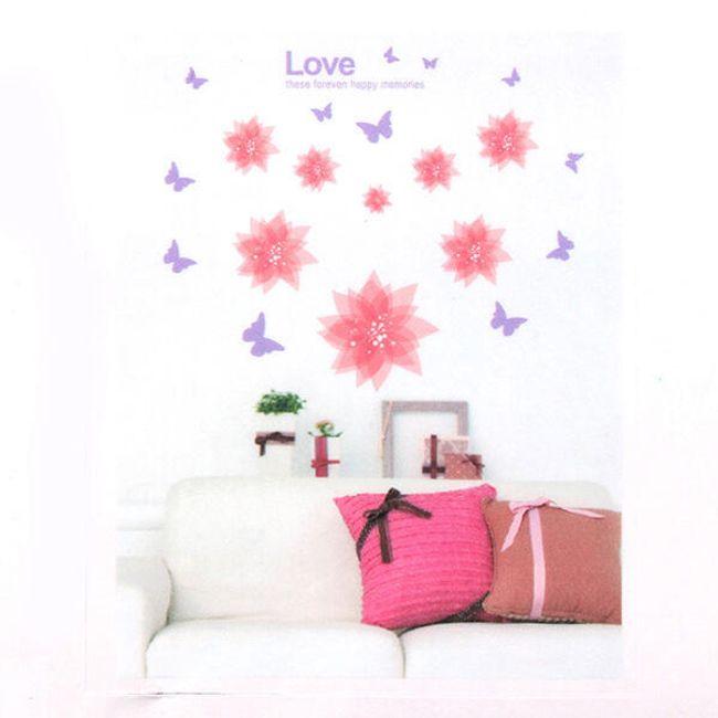 Nálepka na zeď s romantickým motivem 1