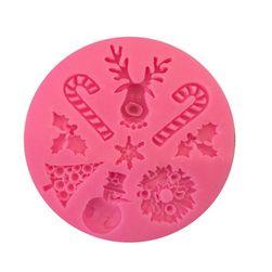 Silikonová formička s vánočními motivy