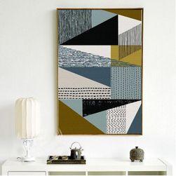 Obraz - Abstraktní plátno s geometrickými prvky