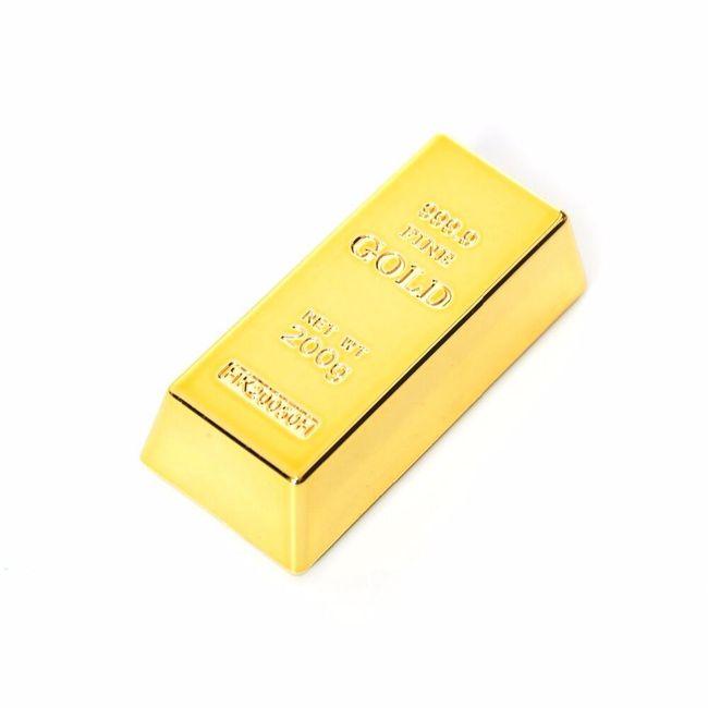 Magnet v podobě zlaté cihličky 1