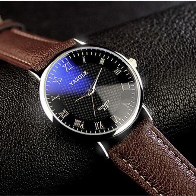Jednoduché pánské hodinky s římskými číslicemi 1