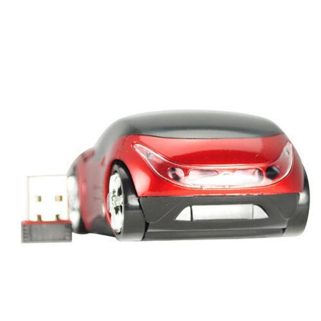 Bezdrátová optická myš ve tvaru Ferrari - červená 1