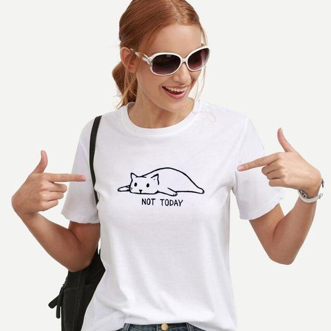 Dámské tričko s krátkým rukávem Not Today 1