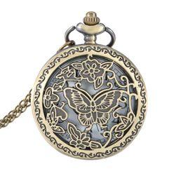 Dámské kapesní hodinky s motýlem