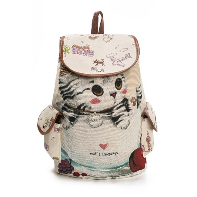Batoh s kočičkou - 3 varianty 1