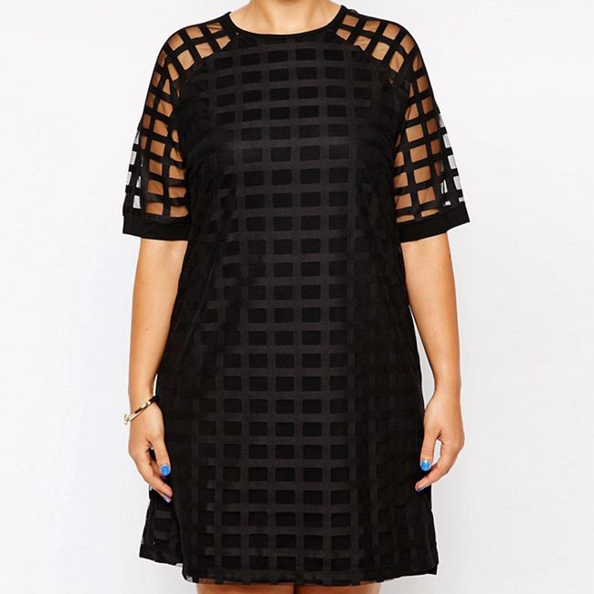 Kostkované šaty - plus size velikosti 1