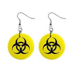 Plackové náušnice - Biohazard