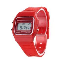 Digitální silikonové hodinky - 8 barev
