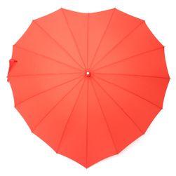 Deštník ve tvaru srdce - červený