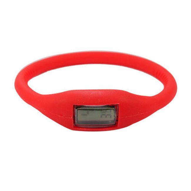 Digitální silikonové hodinky ION - Červené 1