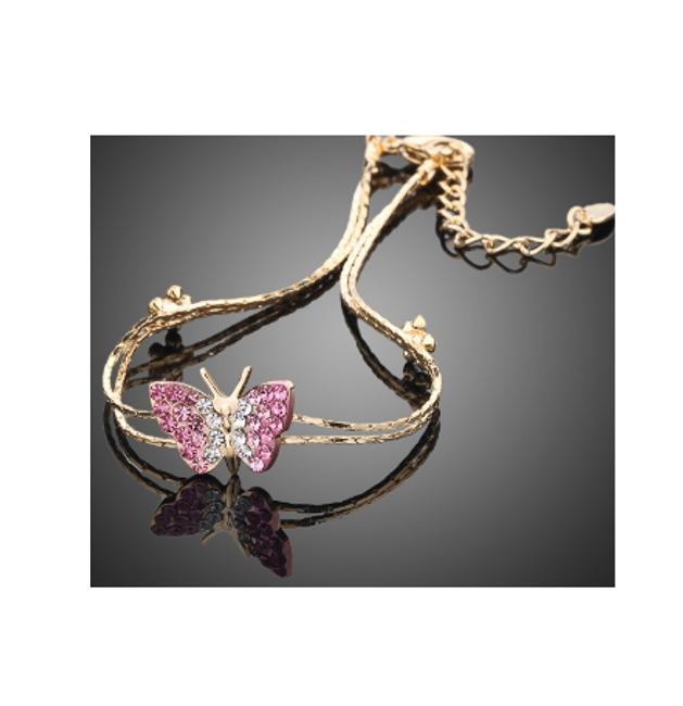 Náramek s motýlkem ve zlaté barvě 1