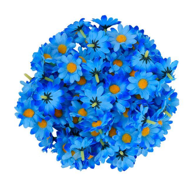 Umělé dekorační květy - 100 kusů 1