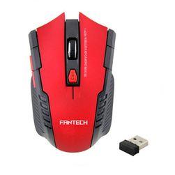 Bezdrátová optická myš - červená