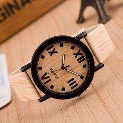 Hodinky v dřevěném designu