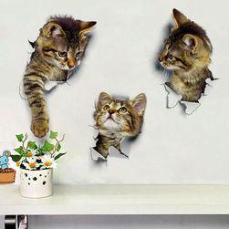 3D samolepka s mourovatým koťátkem - 3 varianty