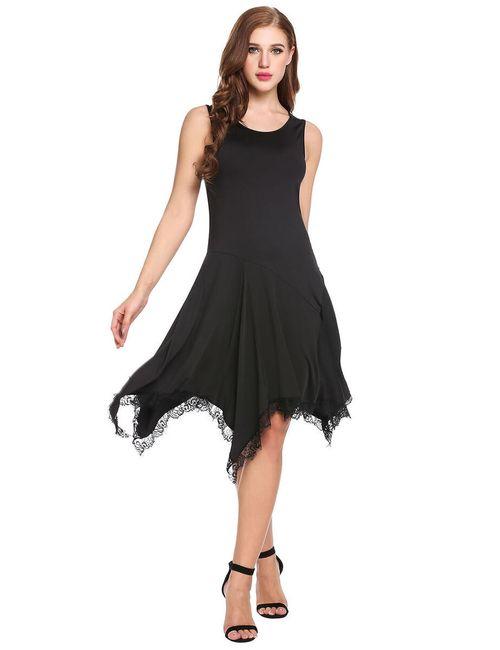 Asymetrické šaty s volánky 1