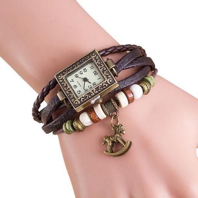 Dámské hodinky s houpacím koníkem - 7 barev 1
