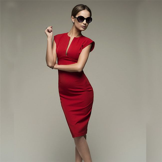 Sexy šaty s hlubokým výstřihem - 3 barvy 1