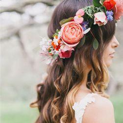 Čelenka do vlasů s květinami - 5 variant