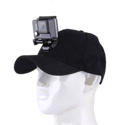 Kšiltovka s držákem pro GoPro - černá barva
