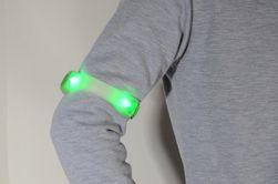 Bezpečnostní LED pásky na běhání - 2 ks