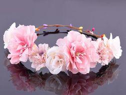Květinový věneček do vlasů - 5 barev