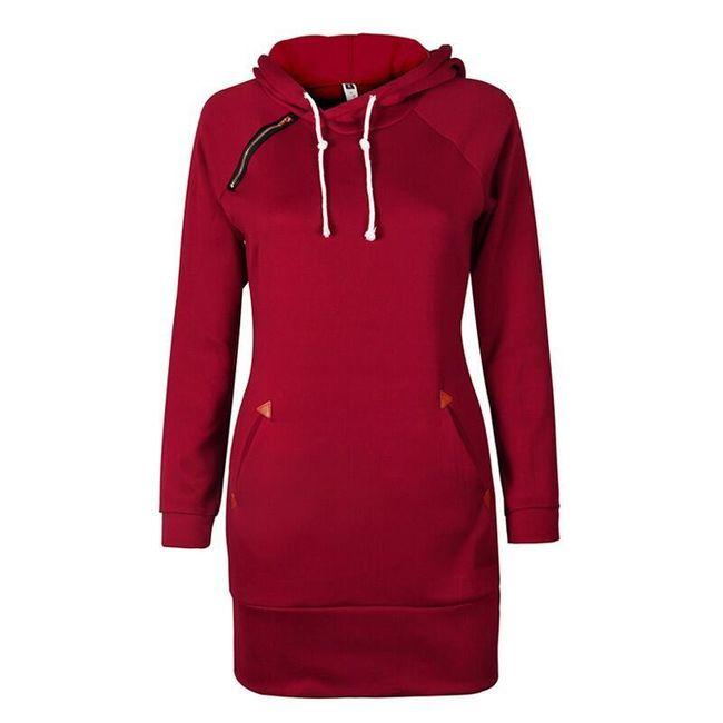 Mikinové šaty s kapucí - 5 barev 1