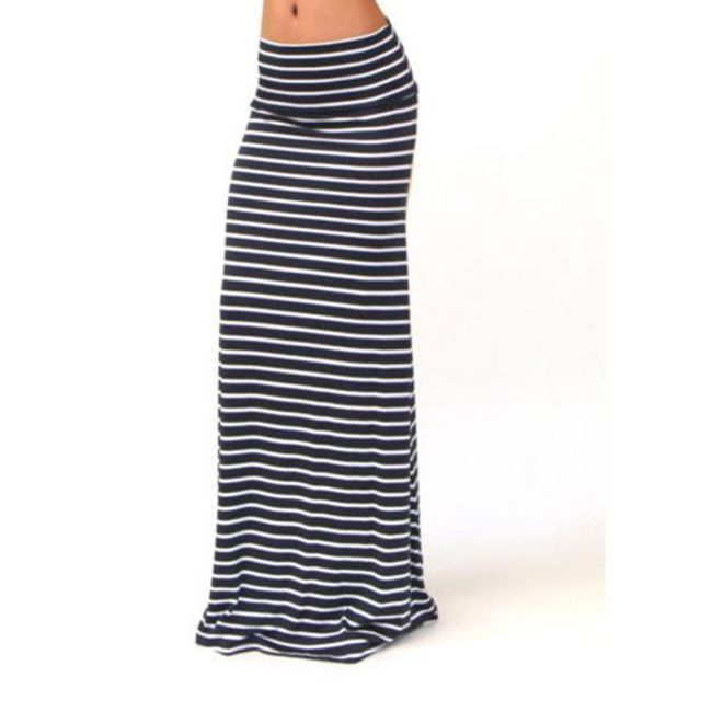 Dlouhá sukně s pruhy - 4 velikosti 1