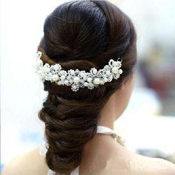 Půlvěneček do vlasů z perliček