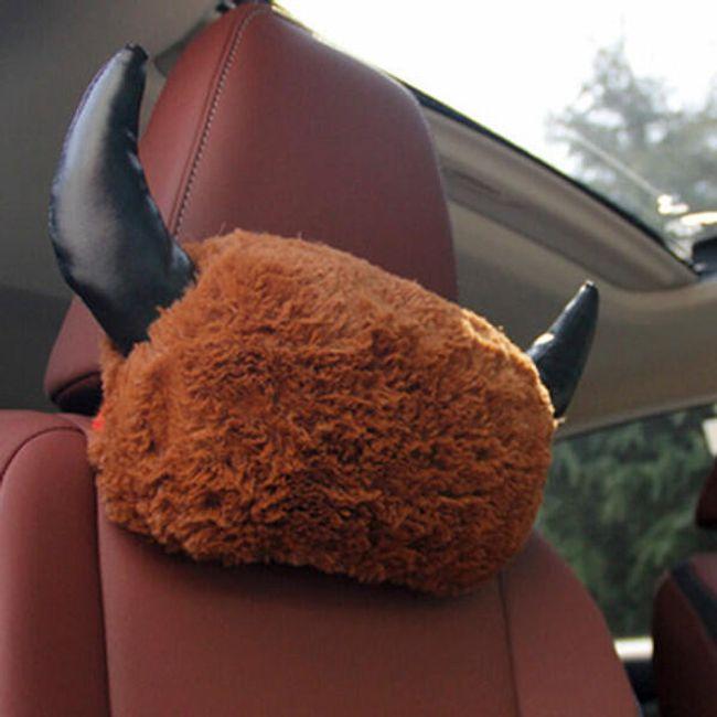 Opěrka hlavy do auta ve vtipném provedení - 2 druhy 1