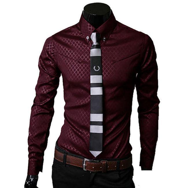Pánská košile s decentním vzorem - 5 barev 1
