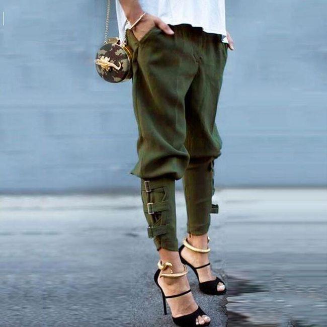 Dámské harémové kalhoty - 2 varianty 1