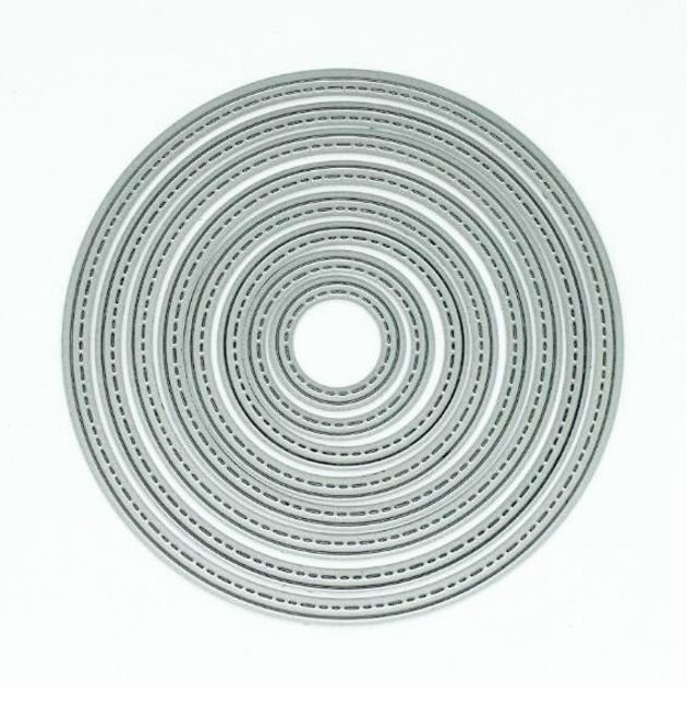 DIY kovová šablona - Kruhy 1