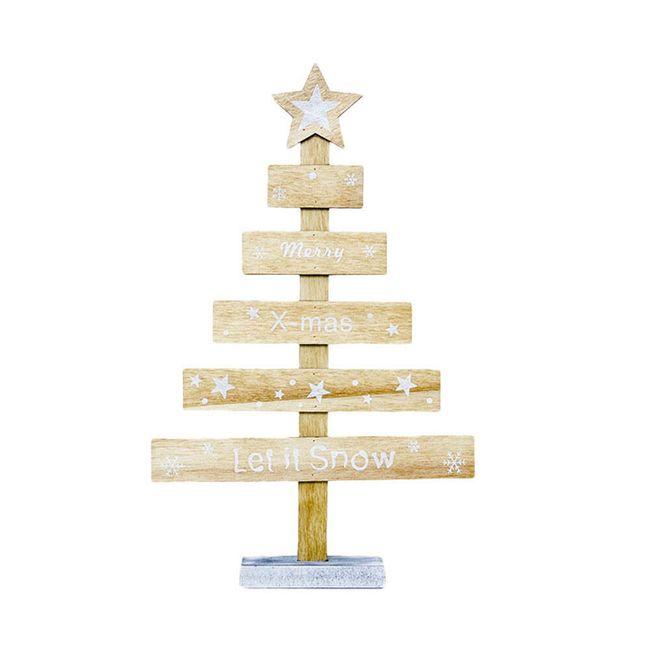 Vánoční dřevěná dekorace stromek - 3 varianty 1