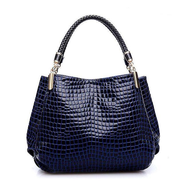 Dámská elegantní kabelka s lesklým povrchem - 3 barvy 1