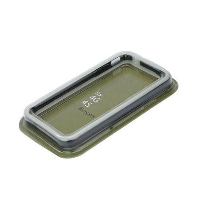 Průhledné ochranné pouzdro pro iPhone 4 a 4S - bílé s kovovými tlačítky 1