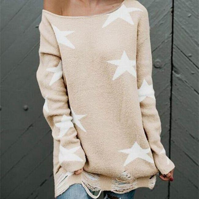 Dámský svetr s hvězdami 1