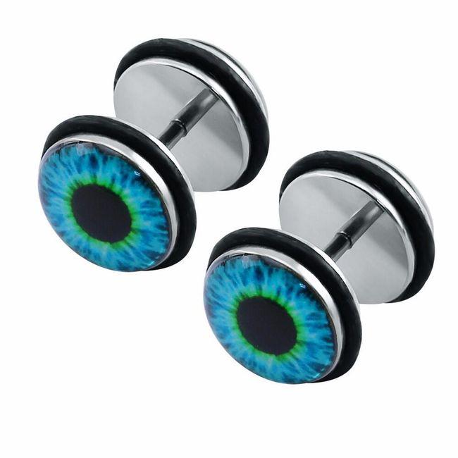 Náušnice v designu oka 1