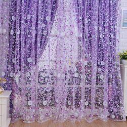 Dekorativní záclona s květinami - 2 barvy