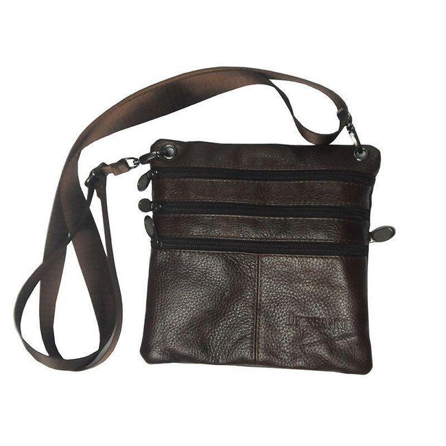 Pánská taška přes rameno v tmavé barvě 1