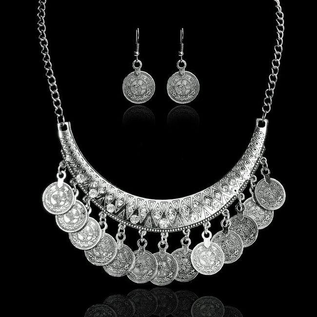 Dámský náhrdelník s náušnicemi  - 3 barvy 1