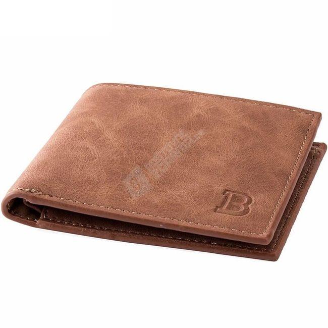 Klasická pánská peněženka v hnědé barvě 1
