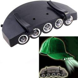 Nasazovací 5 LED svítilna na kšiltovku
