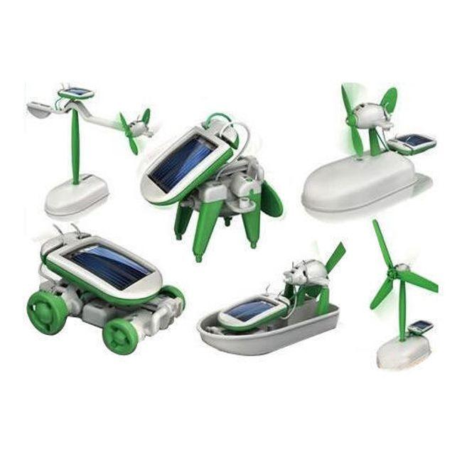 Solar bot 6 v 1 - interaktivní hračka na solární pohon 1