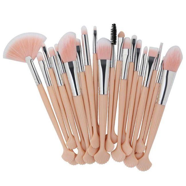Kosmetické štětce - 20 kusů - 10 variant 1