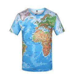 Pánské tričko s motivem mapy