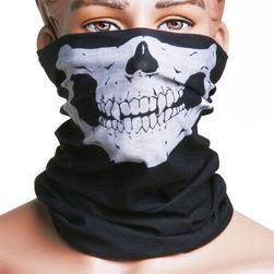 Multifunkční černý šátek s lebkou