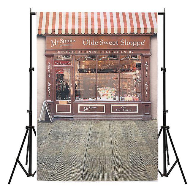 Ateliérové fotopozadí 1 x 1,5 m - Starobylý krámek se sladkostmi 1