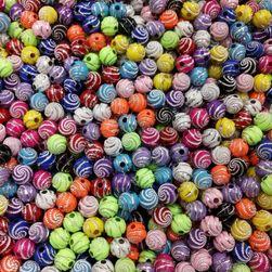 Ozdobné korálky na výrobu šperků - 100 ks