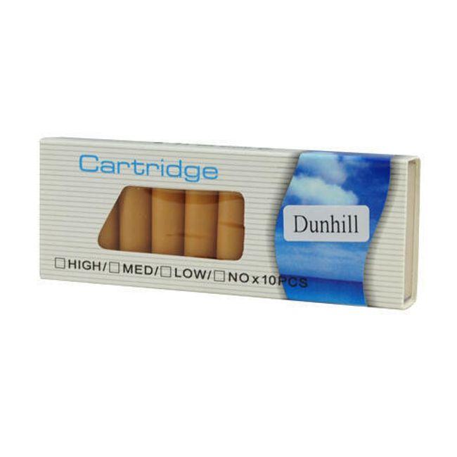 Balení 10 cartridgí do e-cigarety - Dunhill, vysoký obsah nikotinu 1